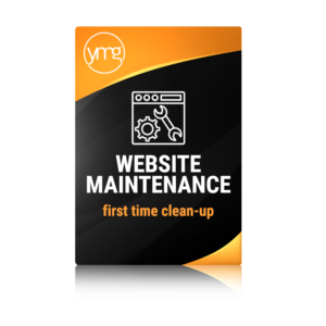 website maintenance first time clean up